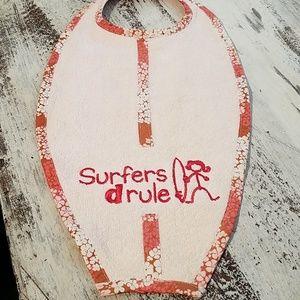 Surfboard  Shaped Baby Bib NWT